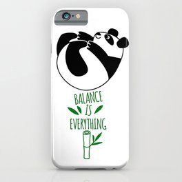 Balance Is Everything! Tumbling panda iPhone Case