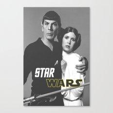 Star / Trek / Star / Wars / Crossover Canvas Print