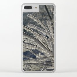 Ice Crystals Clear iPhone Case