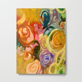 Colorful Rose Abstraction Metal Print