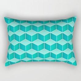 Ocean cubes, a symmetric pattern inspired by the sea. Rectangular Pillow