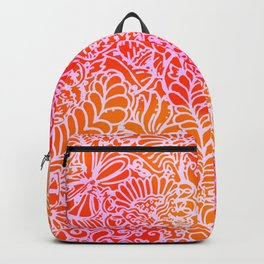Jungle Garden, Red Backpack