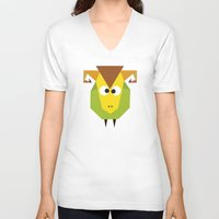 ram V-neck T-shirts featuring Ram by Fairytale ink