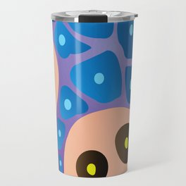 Blue and Pink Travel Mug