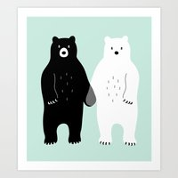 gray Art Prints featuring Gray by Andy Westface