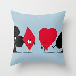 Pair of Aces Throw Pillow