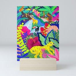 Jungle Party Animals Mini Art Print