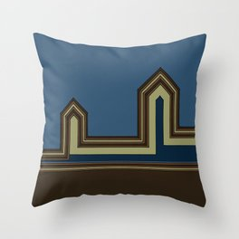 Line Houses - Color Throw Pillow