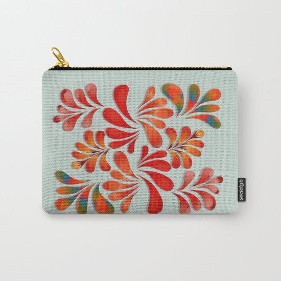 Floral Dance in Red Carry-All Pouch