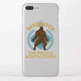 Sasquatch The Pacific North Fresh PNW Bigfoot design Clear iPhone Case