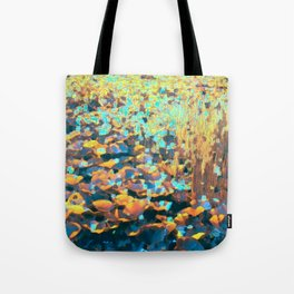 Colorful Lily Pads And River Grass Tote Bag