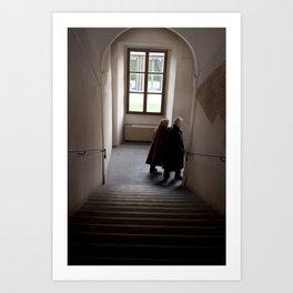 Hallway in Pisa, Italy Art Print