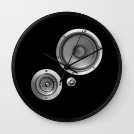 Subwoofer Speaker on black Wall Clock