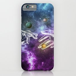 The meeting of souls. iPhone Case