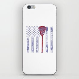 Lacrosse Flag iPhone Skin