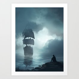 Hallucination of Robinson Crusoe Art Print