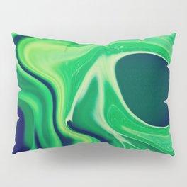 Harmonious Greens Swirls and Cells - Abstract Art, Digital Fluid Art Pillow Sham