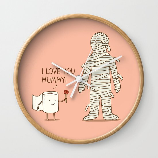 I love mummy Wall Clock
