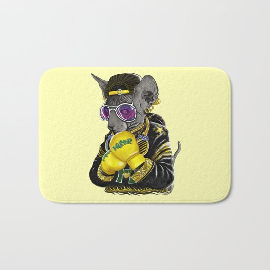 Boxing Cat 3 Bath Mat