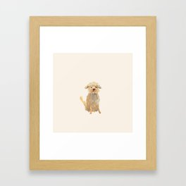 A dog called Jazz Framed Art Print