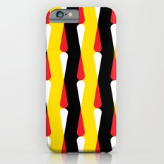 Droplet pattern - black, yellow, red Slim Case iPhone 6s