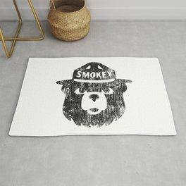 Smokey Bear Distressed Logo Rug