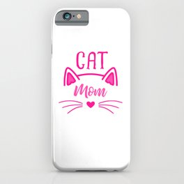 Cat Mom Heart Nose Ears and Whiskers mag iPhone Case