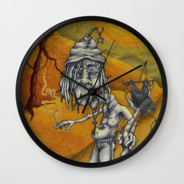 Silver and Gold Wall Clock