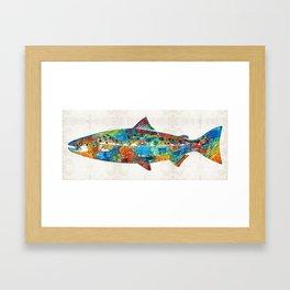 Fish Art Print - Colorful Salmon - By Sharon Cummings Framed Art Print