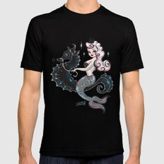 Pearla on Seahorse Mens Fitted Tee X-LARGE Black