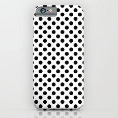 Black and white polka dots iPhone 6s Slim Case