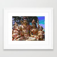 hindu Framed Art Prints featuring Hindu Gods by BangBang