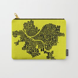 Pittsburgh Neighborhood Typography Map Carry-All Pouch