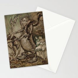 Water goblin and imps Stationery Cards