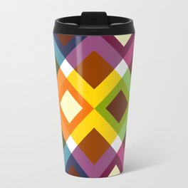 Geometric Pattern #19 (diamonds) Travel Mug