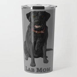Dog Mom Black Labrador Retriever Travel Mug