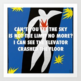 Icarus Crashed the Floor Art Print