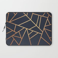 Copper and Midnight Navy Laptop Sleeve
