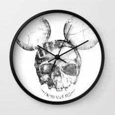 Mickey Skull Wall Clock