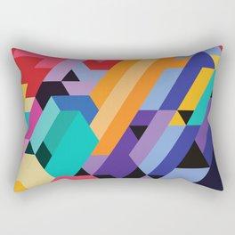 Flat Geometry 01 Rectangular Pillow