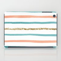 stripe iPad Cases featuring Sparkle Stripe by Social Proper