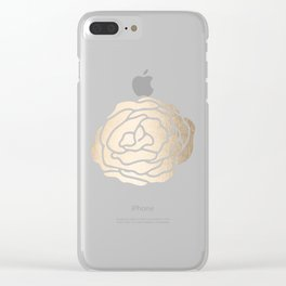 Rose White Gold Sands on White Clear iPhone Case