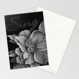 Sing - Tones of Grey Stationery Cards