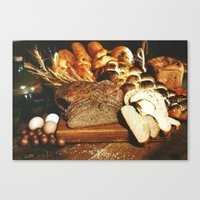 food Canvas Prints featuring Food by Kathrin Legg