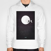 movie poster Hoodies featuring Moon alternative movie poster by LionDsgn
