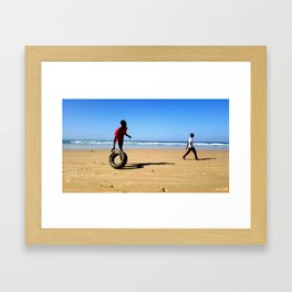 Beach of Dakar Framed Art Print