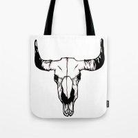 pun Tote Bags featuring terri-bull pun by gabkl
