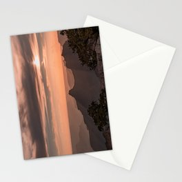 North_Rim Grand_Canyon Silhouette Sunset Stationery Cards