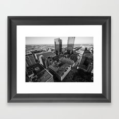 Fort Worth in Black and White Framed Art Print