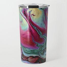 Colorful abstract marbling Travel Mug